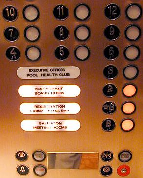 elevator floor call panel