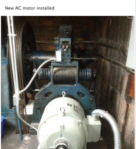 new AC motor installed